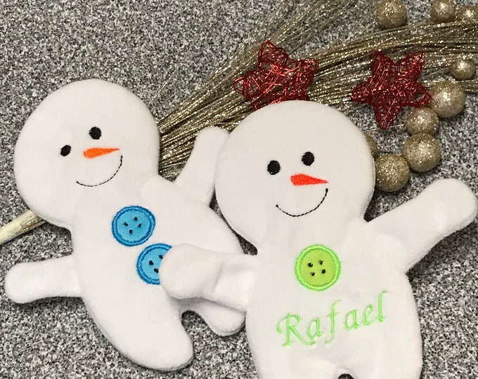 Featured listing image: Crackling Cloth Snowman Crackling Pillow Popular Toy Baby Unique Personalized