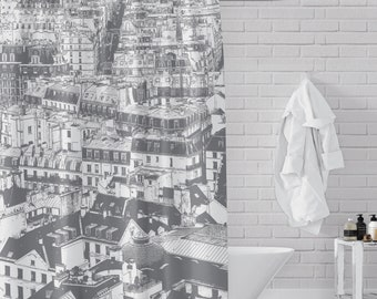 Paris Rooftoops - Street View from Notre Dame Cathederal,  Shower Curtain