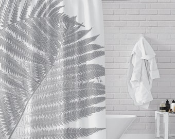 Two Gray Ferns Shower Curtain
