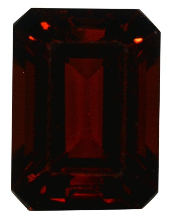 Tanzania AAA Grade Square Princess Natural Fine Vivid Deep Red Garnet