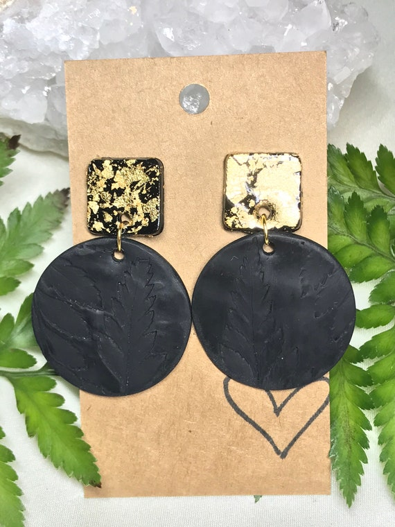 Polymer Clay Stud Earrings The Fern Fall Earrings Collection