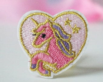 "1 5//8/"" x 1 3//4/"" Hot Pink Snake Skin Heart Embroidery Applique Patch"