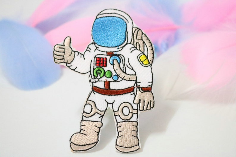 Thumbs Up Space Man Astronaut Embroidered Patch Iron-On//Sew On Applique