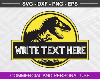 Jurassic Park svg, Jurassic Park Logo svg, Dinosaur Logo, Silhouette, Vector, Clipart, Svg, Png, Eps, Dxf, Pdf, Cricut , Cut File