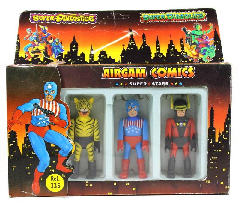 1985 Airgam Comics Super Stars Captain Laser + Bad Tiger + Starsman 4