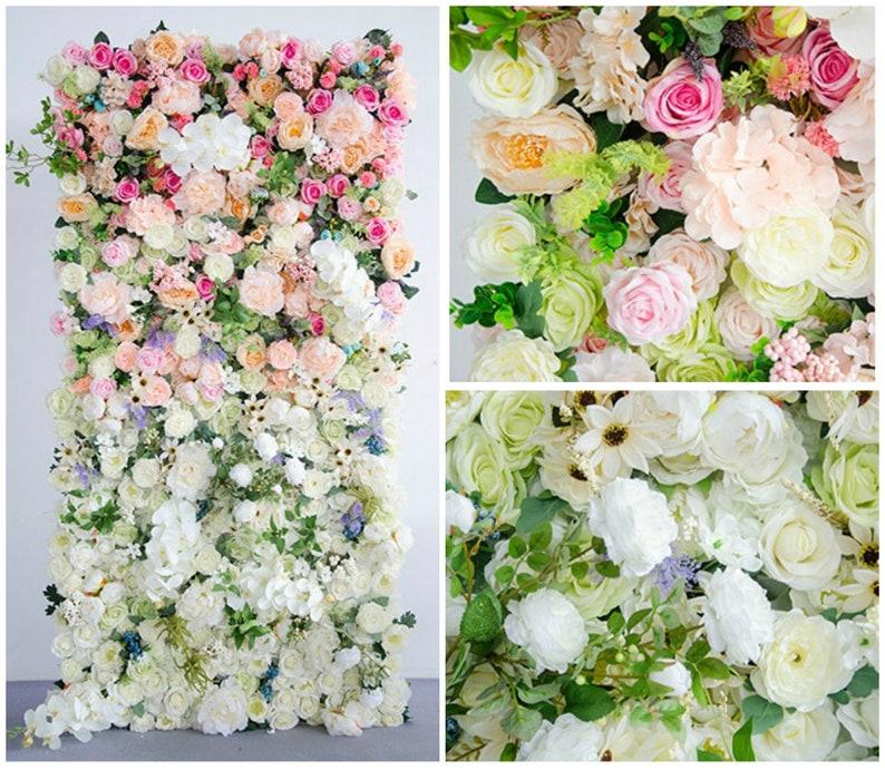 1M Customize Wedding Backdrop Wedding  Lead Flower Arrangement Silk Flower Wall