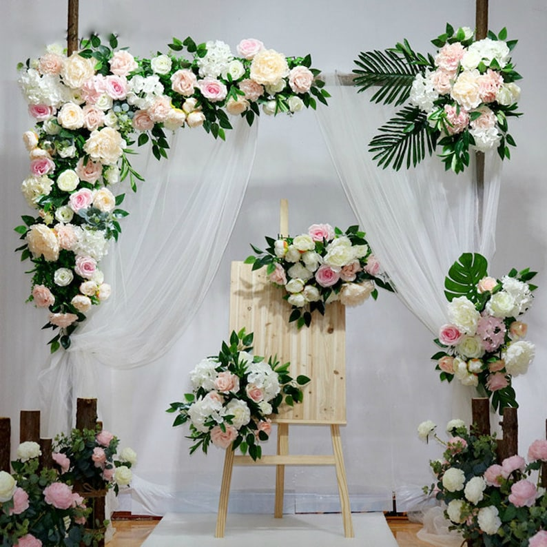 Diy Wedding Arch.Variety Of Styles Customize Wedding Arch Backdrop Diy Wedding Artificial Flower Bouquet For Background Decorative Road Lead Arch Decor