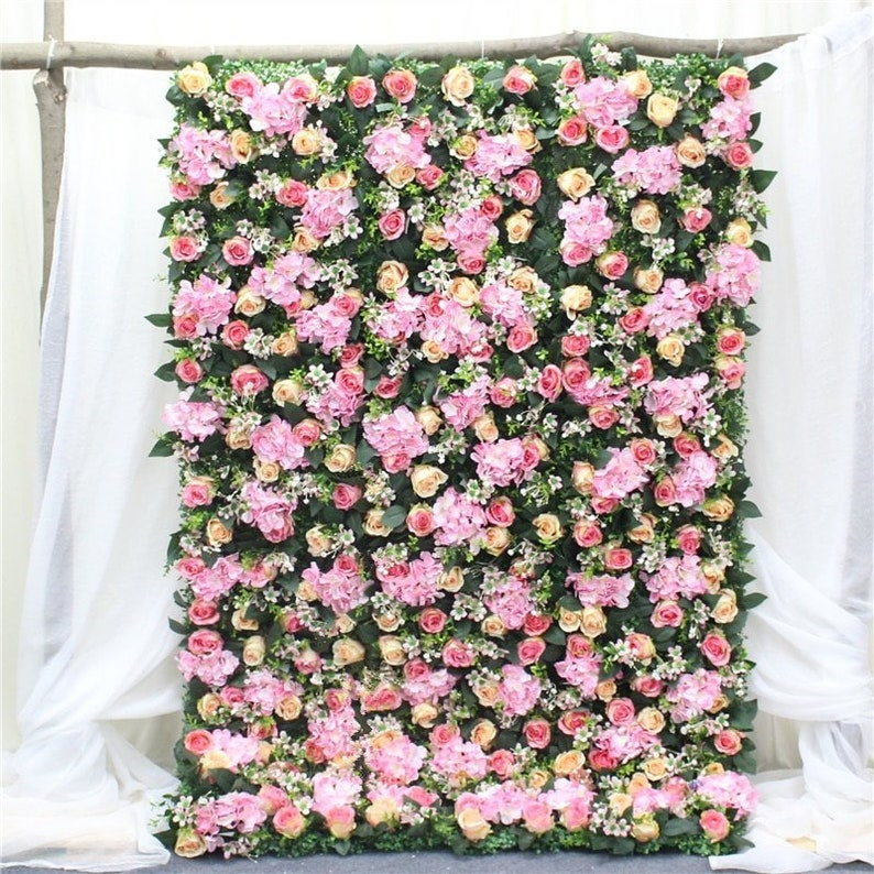 High-quality floral wall mix artificial flowers super image 0