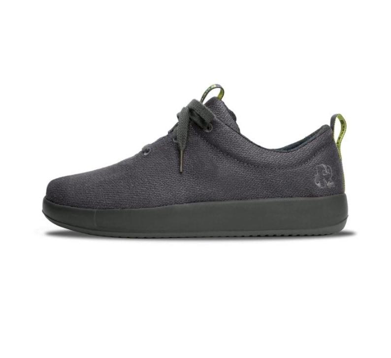 LeafToEmber Charcoal Gray Hemp Shoes
