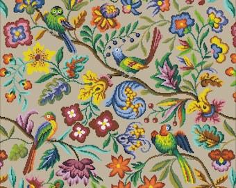 Vintage cross stitch Vintage patterns Embroidery cross stitch Pattern 4  Download cross stitch bouquet Electronic schemes embroidery flowers