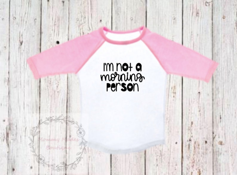 I/'m Not A Morning Person Shirt
