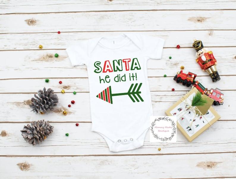 Santa HeShe Did It shirt