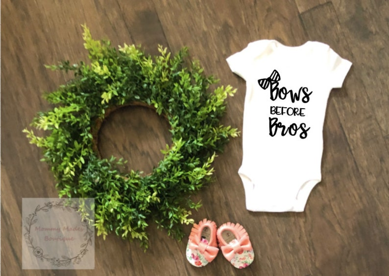 Bows Before Bros Baby Bodysuit