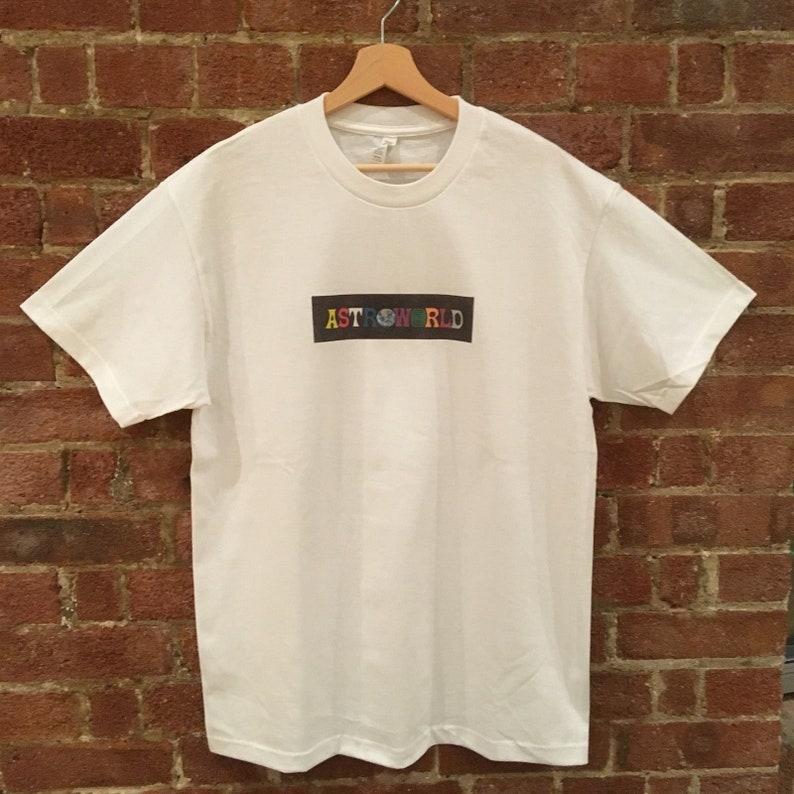 ASTROWORLD Travis Scott T Shirt (+ Free Vinyl Sticker)