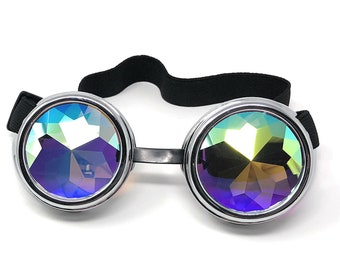 Rose fluo cyber Lunettes Steampunk soudage Goth Cosplay