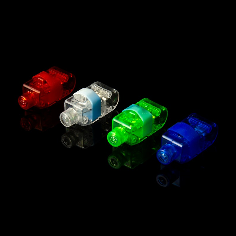 Pack of 80 Pcs LED Finger Lights Light Up Flashlight Party Favours Supplies or For use As Free Motion Quilting Sewing Cleaning Finding Items