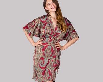 7efaf72801 Paisley Satin Robe • Erotic Ladies Nightwear Set