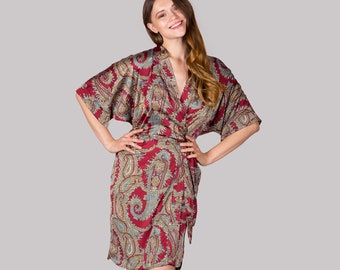 Paisley Satin Robe • Erotic Ladies Nightwear Set a610de150