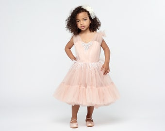 a3b8b76e Blush pink flower girl dress, Baby flower girl dress lace,Junior bridesmaid  dress Baby girl dress special occasion baby wedding dress