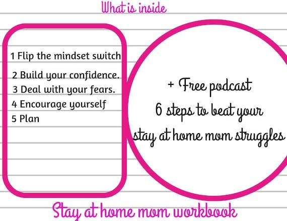 Printable Workbook Stay At Homemom Workbook Beat Stay At Home Mom Struggles Workbook