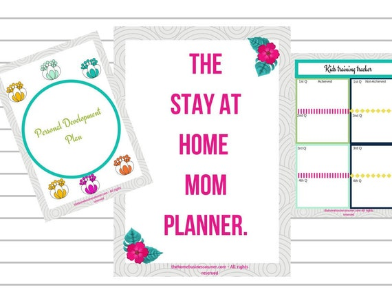 Mom Planner For Stay At Home Moms Printable Planner For New Moms Mommy Selfcare Organizer
