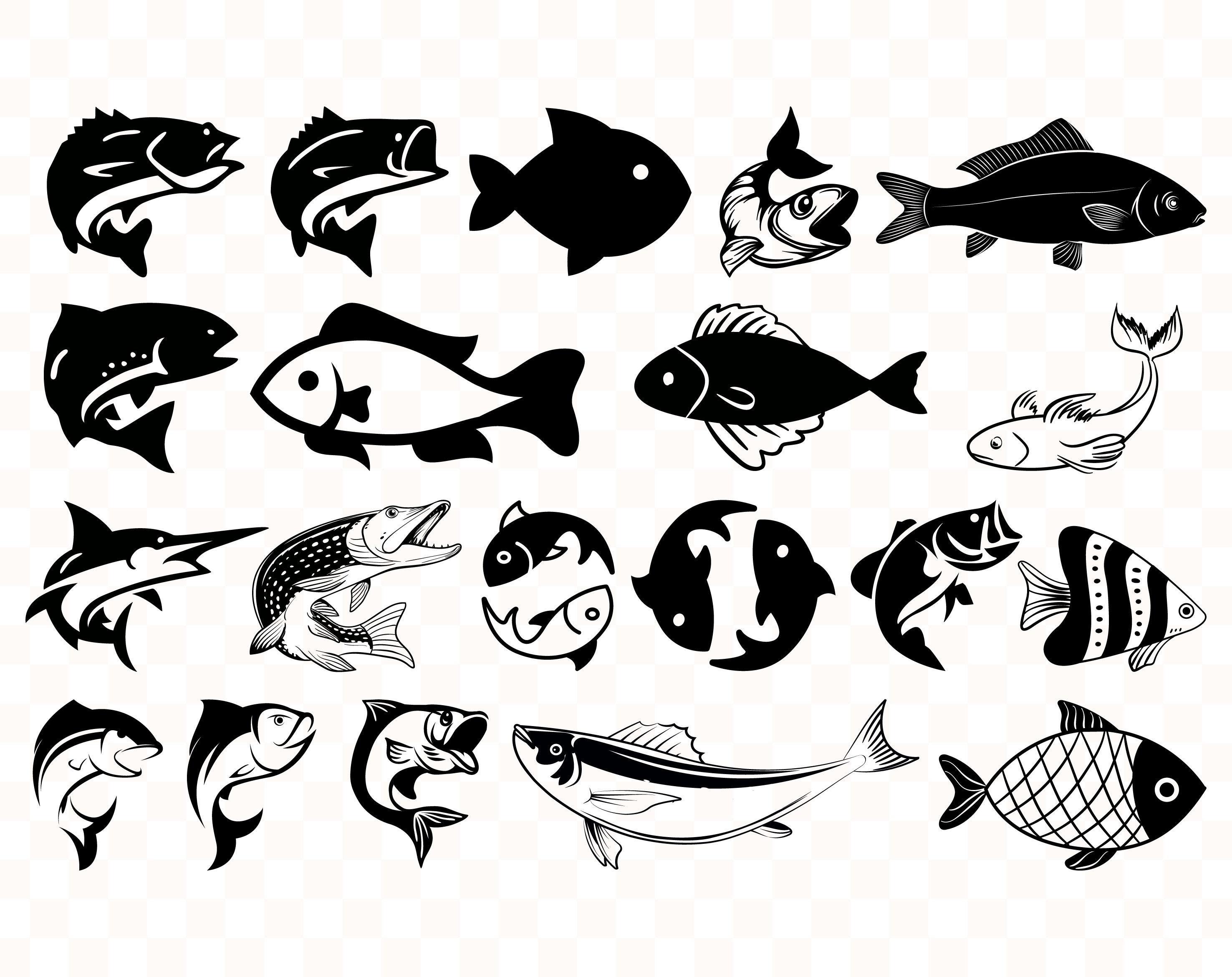 Download Fish Cut File Sea Bass Svg