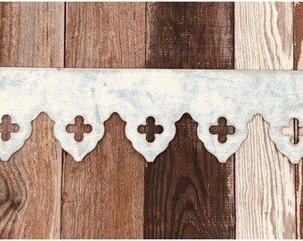 Metal Awning trim in galvanized sold by the foot