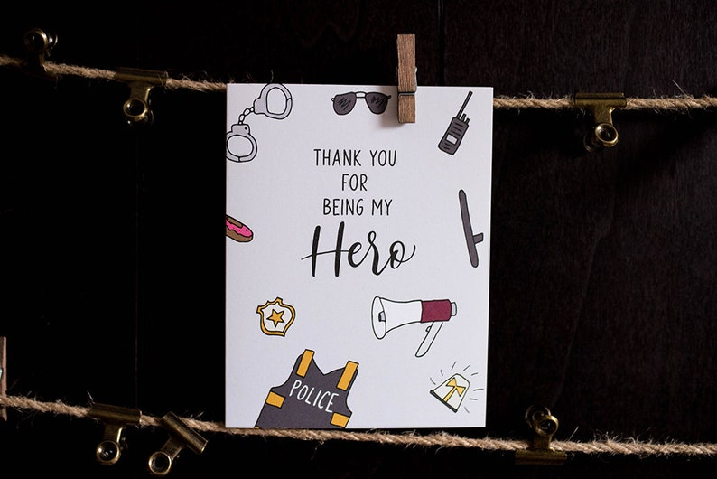thank you for being my hero thank you greeting card for  etsy