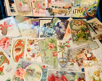 Antique Postcards 1900s - 20s - Mystery Packs