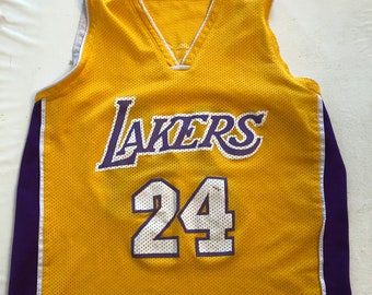 27cc869e2f1f Vintage 90s Los Angeles Lakers Throwback Jersey Kobe Bryant  24 NBA Retro  Streetwear - Small