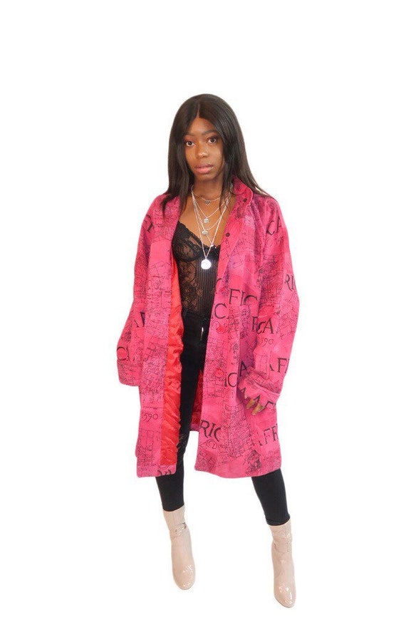Pink Leather African Oversized Jacket