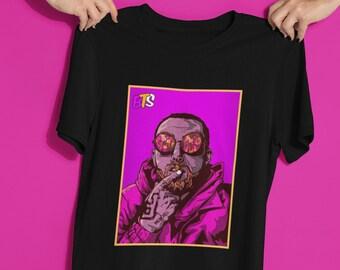 b2ea9f6789306a Mac Miller Shirt, Vintage Music Tee, Mac Miller art, rip Mac Miller, unisex