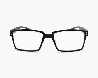 564cfe241d Woman and Man Reading Glasses Rectangular Sleek Non Prescription Retro  Readers Glasses