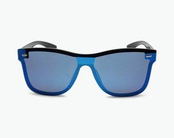 36569014edf Exotic Flat Mirror Lenses Square Fashion Sunglasses For Men   Women