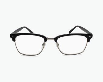 4f1c62dbce7 Half Rim Plastic Frame Optical Reading Glasses For Men