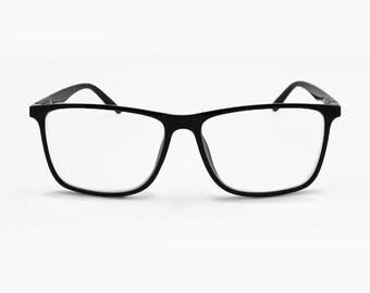 ac6b41ca5a Retro Classic Reading Glasses Square Frame Men Women magnify Reader  Superman Clark Kent
