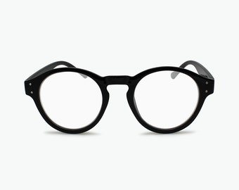 3bf42d554b Designers Round Reading Glasses - Geoffrey Beene Man Woman - Black Tortoise  Shell Large Vintage Frame