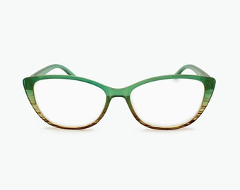 35bec09cb43f Retro Colors Vintage Glasses Frame Woman Reading Glasses Cat Eye Frames  Progressive Unique Eyeglasses