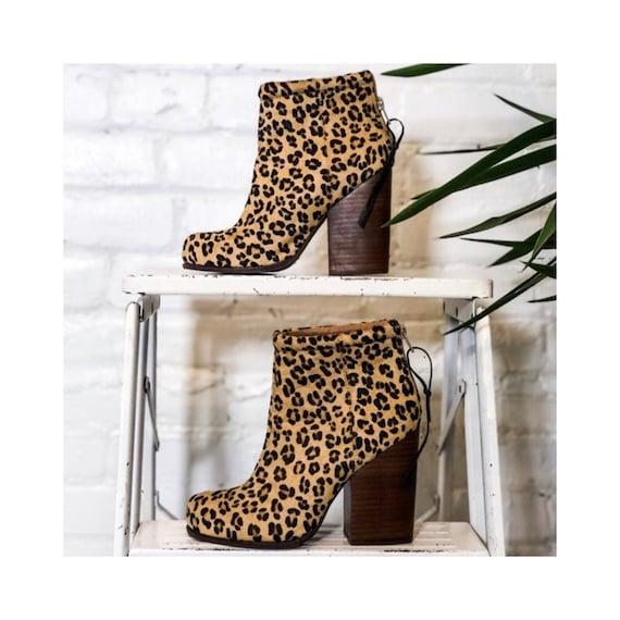 Cheetah Print booties- Jeffrey Campbell