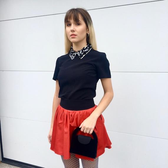Y2K mini skirt; ACNE