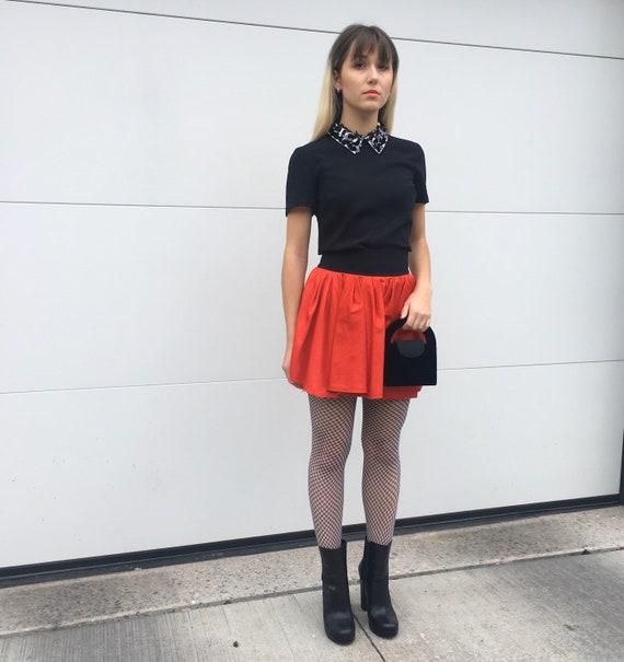 Y2K mini skirt; ACNE - image 2