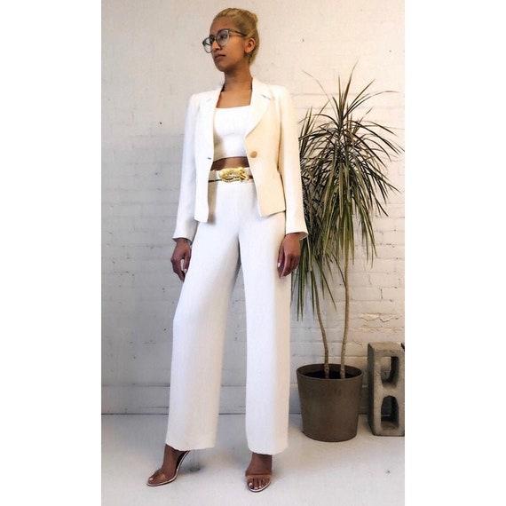 White Pant suit, suit set, Giorgio Armani