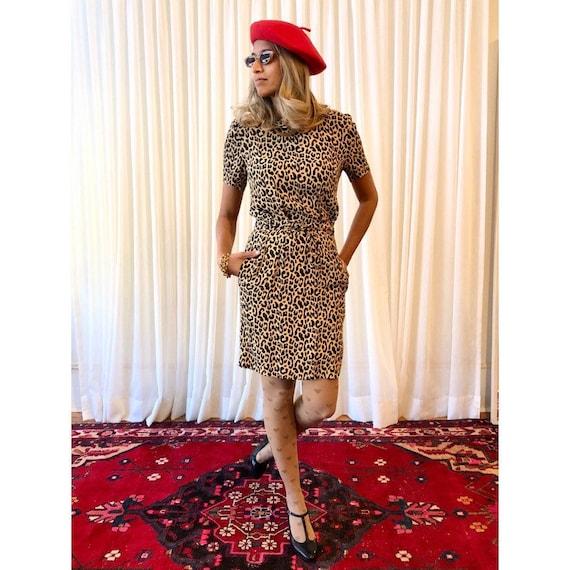Cheetah Print dress- Ganni