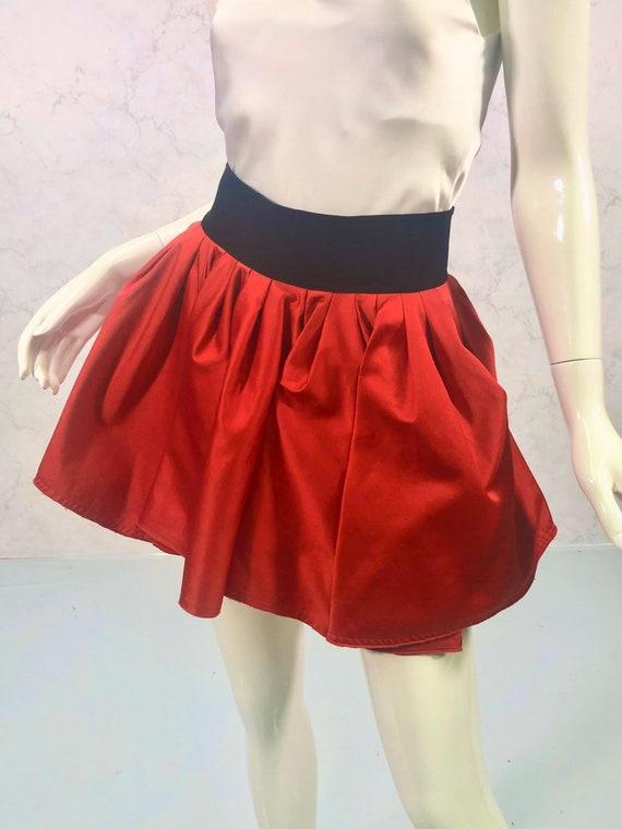 Y2K mini skirt; ACNE - image 3