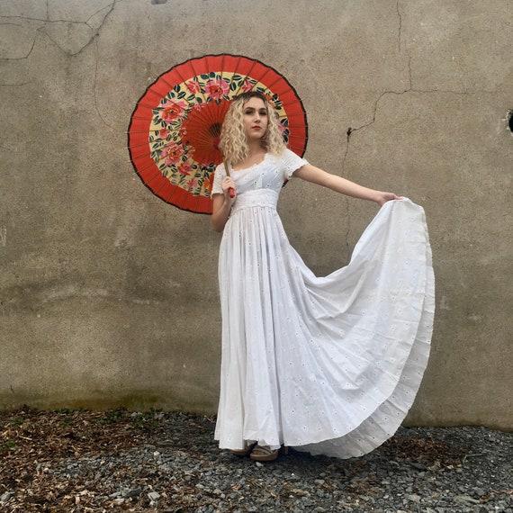 Vintage picnic dress; wedding dress; summer dress