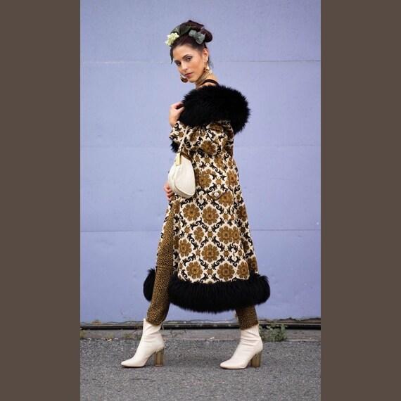 Vintage 70's Carpet Coat, Tapestry coat, Vintage C