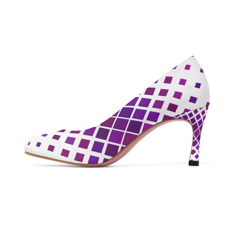 Women/'s Purple And White High Heels