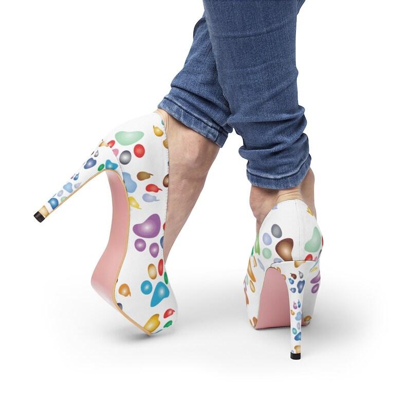 Women/'s Platform Dog Paws High Heels