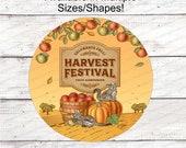 Farmers Market Pumpkins - Farmers Market Sign - Harvest Festival - Welcome Wreath Sign - Farmers Market Stand - Fall Wreath Sign