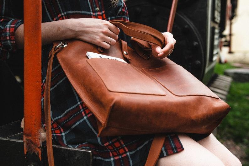 Tote bags with zipper Monogrammed bag,Women tote,Shoulder tote bag,Leather shopper bag,Large tote bag,Leather bag,Laptop bag,Bag women